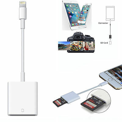 Camera SD Card Reader Adapter Cable for iPhone 7 Plus 6S Apple iPad Pro Air Mini