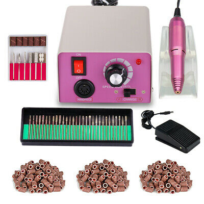 Professional Nail File Machine Acrylic Gel Manicure Electric Drill Kit with Bits