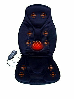 Vibration Car Seat Massager Heated Back Massage Chair Pad Cushion Neck Shoulder