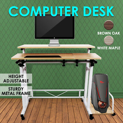 Height Adjustable Home Office Computer Desk Manual Sit Stand Laptop Desk NEW