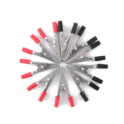 10Pcs Plastic Handle Test Probe Alligator Clips Electrical Diy Leads Wire Jumper