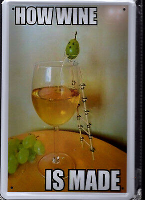 Blechschild 20x30 - NEU new Metal sign - How wine is made