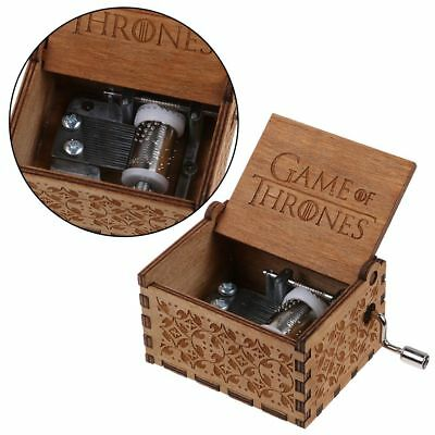 Game of Thrones-Engraved Wooden Music Box interesting Children Toys Xmas Gifts