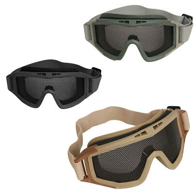 Airsoft Goggles Tactical Paintball Wire Mesh Wind Dust Protection Motor Anti-fog