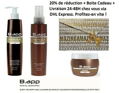 Box B.app professionnel : shampoing + masque + soin lissant