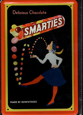 Blechschild 20x30 - NEU new Metal sign - Smarties Schokolade-Reklame-Retro