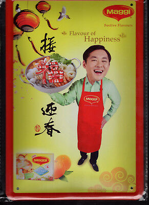 Blechschild 20x30 - NEU new Metal sign - Maggi-Flavour of Happiness