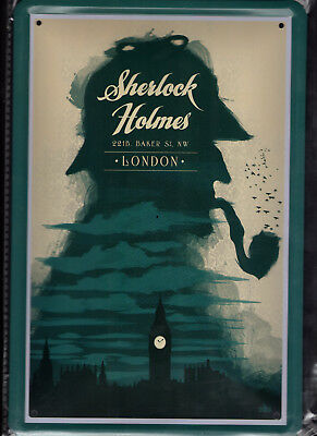 Blechschild 20x30 - NEU new Metal sign - Sherlock Holmes London