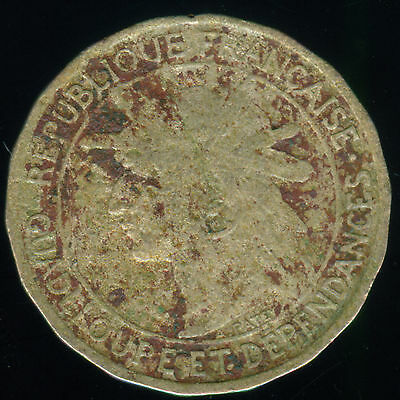 1921 Guadeloupe 50 Centimes