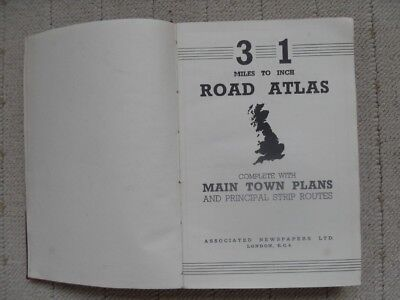 1950's 3 Miles to the inch Gt Britain Road Atlas