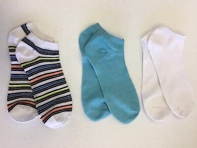 Chatties Girls Socks LOT Of 3 PAIR NEW Lowcut Sock Size 9-11 Shoe Size 4-10