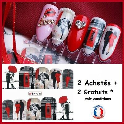 ❤️Nouveau Stickers Glamour Bijoux Ongles Water Decals Nail Art Manucure