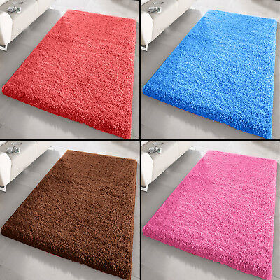 X Large Soft Thick Shaggy Plain Rug Non Shed Living Room Bedroom Floor 5Cm Rugs