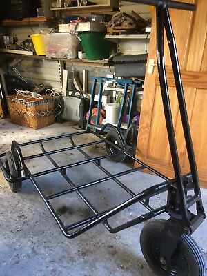 VINTAGE INDUSTRIAL TROLLEY Three Wheel Trolley