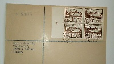 GB JERSEY WW2  *VIEWS* FDC x 4 Occupation Covers FINE perf pull on green 1/2d