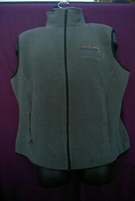 PORT ATHORITY Womens XL GRAY  Vest Zipper Front Fleece