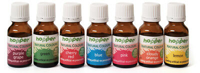 Hopper Natural Food Colouring Set of 8 Colours (Including Black)