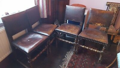leather style arts and craft chairs x4(more avalible)