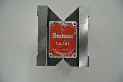 "Starrett Dual-Vee Magnetic V-Block  2-1/2"" x 3"" x 3"", Model 566"