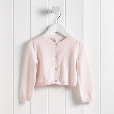 The Little White Company Whisper Pink Cardigan 12-18 Months. Brand New, with...