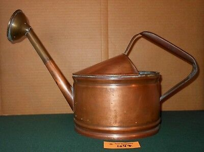 Vintage Copper Watering Can with Patina