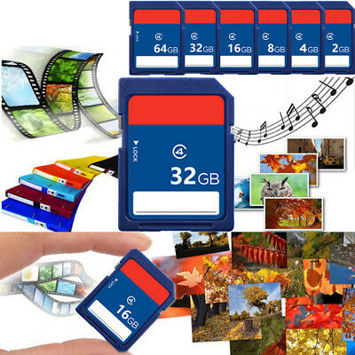 2GB-64GB Class 4 C4 SD Memory Card for Nikon Canon Digital Cameras GPS Tablets