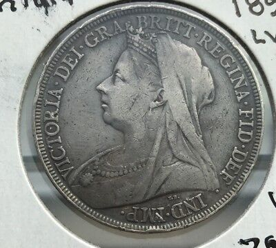 Great Britain, 1895 (LVIII) Crown, silver, Extremely Fine - VF, rim ding