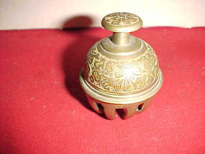 Vintage INDIAN BRASS ELEPHANT BELL In claw & ball form  2 1/2 by 2 inch