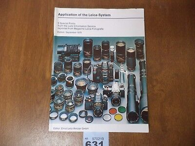 1978 Application Leica System Magazine - 6 Special Prints - Photography Lenses