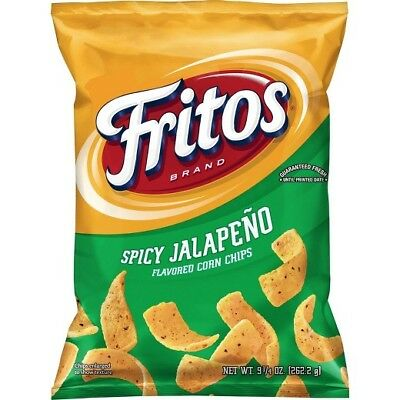 Fritos Spicy Jalapeno Crunchy 9 oz (Pack of 3)