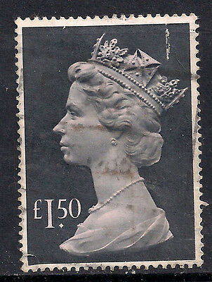 GB 1986 QE2 £1.50 Grey Black Parcel Stamp SG 1026e.(F290 )