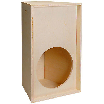 "PA Knock-Down Trapezoid Plywood Speaker Cabinet for 15"" Driv"