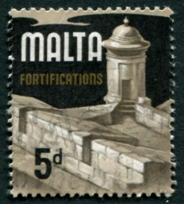 MALTA 1970 5d multicoloured SG337b used NG Fortifications #W53