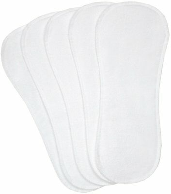 5 Pack Kushies White Washable Cotton Cloth Diaper Liners Infant/Toddler - 533511