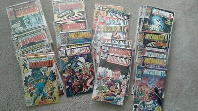 LOT of 81 MICRONAUTS (MARVEL COMIC BOOK COLLECTION) Bill Mantlo & Michael Golden
