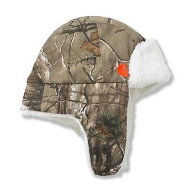 "CARHARTT Boys Infant/Toddler Camo Bubba Hat Sherpa Lined ""Realtree Print"" NWOT"