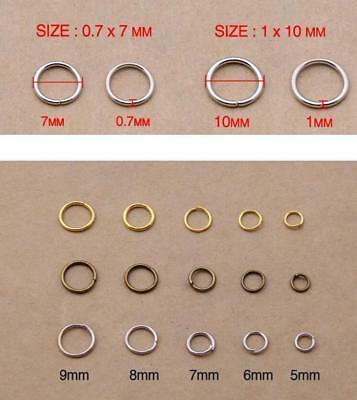 500 Split Jump Rings Open Connector Jewelry Finding 4/5/6/8/10/12/14/20mm DIY