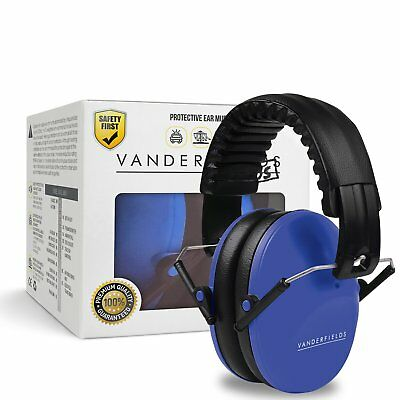 Ear Defenders Children Kids Toddlers Babies Hearing Protection Earmuffs Blue NEW