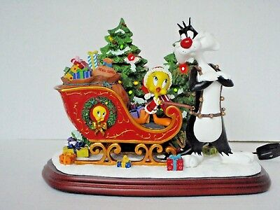 Danbury Mint - THE TWEETY CHRISTMAS SLEIGH - Looney Tunes - Lighted - HTF/EUC