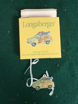 """Longaberger Ceramic Surf's Up Tie - On """"Car"""" -New In Box"""