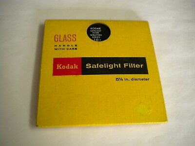 NOS Kodak Darkroom Safelight Filter Wratten No 10 Film Photography 5 1/2