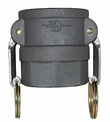 PT Coupling Basic Standard Series 20D Hard Coat Aluminum Cam Fitting, 2""