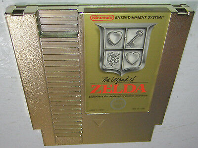 VG COND Nintendo NES Game THE LEGEND OF ZELDA Tested, Cleaned, Authentic, SAVES!