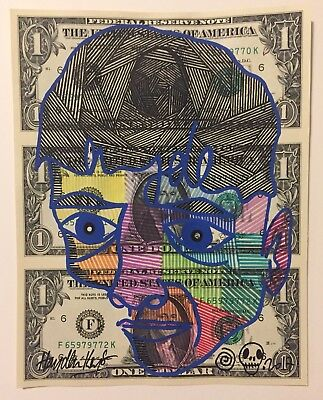 Hayden Kays Original Dollar Portrait Face Painting SIGNED unique Pop Artwork