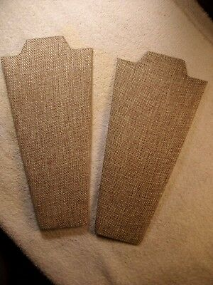 (2) 8-1/2 Inch Linen Covered Padded Necklace Display Stands With Easel
