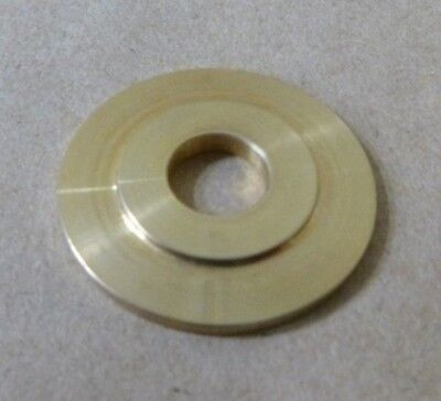 "13/32"" ID x 1-1/4"" OD x 1/8"" TALL BRASS 3/4"" FLANGED STANDOFF SPACER WASHER"