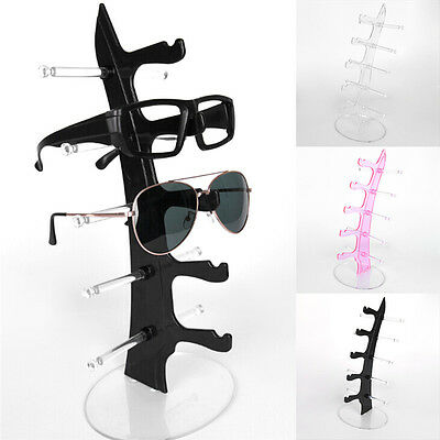 5 Layers Glasses Eyeglasses Sunglasses Show Stand Holder Frame Display Rack -W