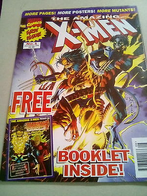 Amazing X-Men , No.1. + Free Gift Poster & Booklet . Marvel Uk 1996 *u.k.auction