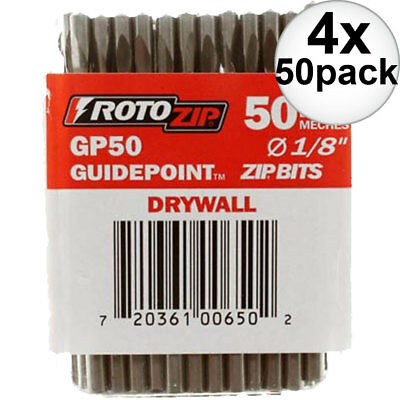 Roto Zip GP50 4x 50pk Guide Point Drywall Zip Bit New