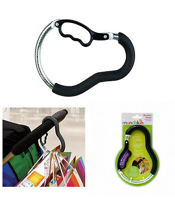 Munchkin Pushchair Hook Clip Stroller Pram Accessory Storage Shopping Bag